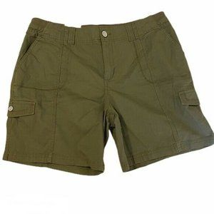 Style & co 18 Olive Green Shorts Mid Rise Cargo